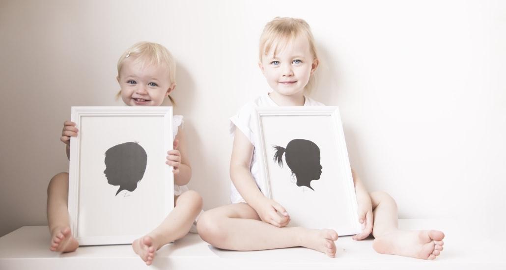 Silhouette portretten van je dierbare(n) zoals je kinderen.